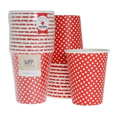 Red Polkadot Cups (Pack of 12) - Happy Little Soirée