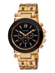Women's Oversized Boyfriend Chronograph Gold Watch