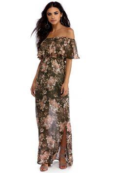 Olive Rose Bliss Maxi Dress