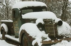 ....They usually saw the first snow fall at Thanksgiving.  1938 Chevy truck