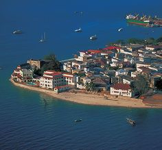 Stone town Zanzibar, Tanzania, the place where the slave trade was controlled on the Swahili coast