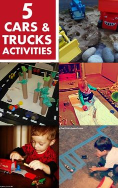 5 Cars and Trucks Activities - My kids love anything with wheels!