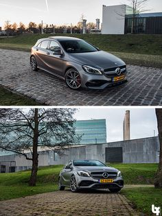 Striking lines, dynamically curved surfaces and coupé-like window lines characterise the exterior of the Mercedes-Benz A-Class, following the design philosophy of sensual clarity. Photos by Bas Fransen. [Mercedes-AMG A 45 | combined fuel consumption 7.3–6.9 l/100km | combined CO2 emission 171–162 g/km | http://mb4.me/efficiency_statement]