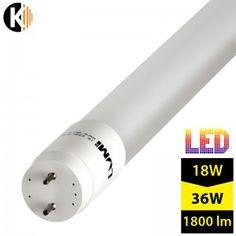 Tuba LED SMD T8/G13, 18W, biała ciepła - DWUSTRONNA