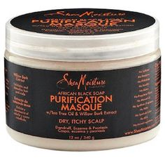 Shea Moisture - African Black Soap - Purification Masque w/ Tea Tree Oil & Willow Bark Extract Low Porosity Hair Products, Hair Porosity, Natural Hair Care, Natural Hair Styles, Natural Life, 2nd Day Hair, Dandruff Control, Curl Enhancing Smoothie, Dry Itchy Scalp