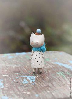 Сказочные персонажи ручной работы. деревянная игрушка котик. Ася Катечкина. Ярмарка Мастеров. Деревянная кукла, игрушка ручной работы