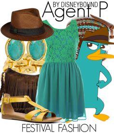 Disney bound Agent P addition