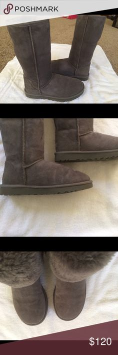 Ugg classic tall boot size 7 women Great condition! Barely worn, mostly indoors. UGG Shoes Winter & Rain Boots