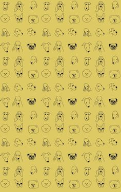 Baines and Fricker wallpaper in dogs, also available in pink or blue