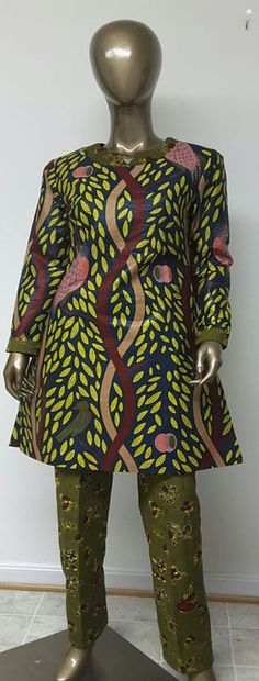 AYAWAX Collection. Multi African Print Tunic and by NanayahStudio