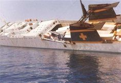 The MS Zenobia before she went down due to a Ballast error caused by bad software in the computerized pumps. She would sink later that day at 2:30 am June 5, 1980.