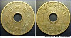 Japanese 1949? (Showa 24?) 5 Yen $0.81