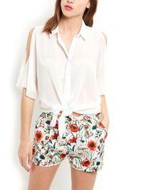 Cutie White Cold Shoulder Shirt
