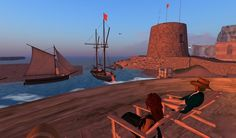 Enjoy the scenic harbour at Port Austen, with the martello tower and orangerie in view on the right.  http://maps.secondlife.com/secondlife/Antiquity%20Argyle/71/74/26