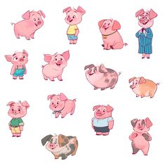 Artstation - oink oink, martina petrova art в 2019 г. Character Design Animation, Fantasy Character Design, Character Design References, Character Concept, Character Inspiration, Cute Animal Drawings, Animal Sketches, 3d Drawings, Pig Illustration