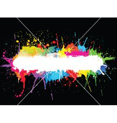 Paint splat vector 216775 - by kjpargeter on VectorStock®. Paintball PartyPaint SplatsBackgrounds FreeParty ...
