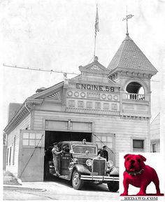 1946 Engine Co. 58 leaves oldest L.A. Fire Station Los Angeles California