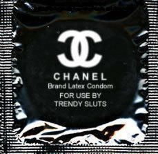 Lol - who knew Chanel dabbled in promoting fashionable safe sex!
