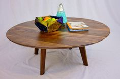The Mila Mid Century Inspired Solid Walnut Round by moderncre8ve, $400.00