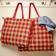 Picnic Red Large Burlap Tote Burlap Tote, Louis Vuitton Damier, Diaper Bag, Picnic, Red, Pattern, Bags, Handbags, Diaper Bags