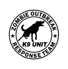 Zombie Decal Sticker Cut Vinyl Car Truck Jeep K-9 Zombie Response Team Decal by StickItUpVinyl on Etsy