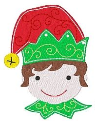 Elf - 4x4 | Christmas | Machine Embroidery Designs | SWAKembroidery.com Stitch-Ville
