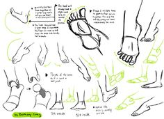 Feet are so complicated, much more so than hands, and we don't even see feet that much unless it's the summer and people are wearing sandals. I could probably draw like 10 pages on feet so … I hope I...