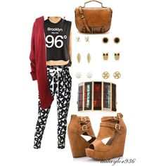 Fall's First by aataylor936 on Polyvore featuring polyvore, fashion, style, Truly Madly Deeply, Ashley Stewart, Lulu Frost, Charlotte Russe, Fall, autumn, cardigan and vagabond