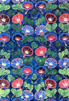Morninglory textile design, by Raoul Dufy (French, Design Textile, Textile Patterns, Print Patterns, Fabric Design, Raoul Dufy, Impression Textile, Textiles, Art Graphique, Kirigami