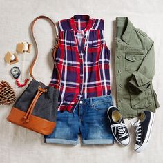 Dear Stitch Fix Stylist,  I love the color of this top.  I need this outfit.  I don't have an olive jacket yet.  And those shoes!    Want s'more camping style inspiration? Check out our guide to outdoor outfitting!
