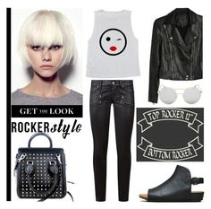 """""""Rocker Chic"""" by louise-frierson ❤ liked on Polyvore featuring Paige Denim, Alexander McQueen, Le Specs, Gentle Souls, rockerchic and rockerstyle"""