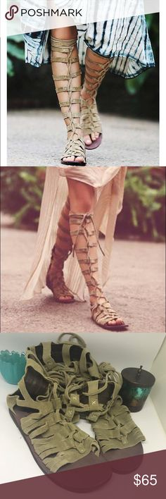 Free People tall cypress gladiator sandals Excellent condition! These are hot hot hot! Size 36 Free People Shoes Sandals