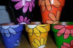 Flower Pot Art, Clay Flower Pots, Flower Pot Crafts, Clay Pot Crafts, Clay Pots, Painted Plant Pots, Painted Flower Pots, Painted Jars, Clay Pot People