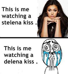Nah. I can't relate. I equally love them both. Elena, YOU DIDNT HAVE TO CHOOSEEEE!