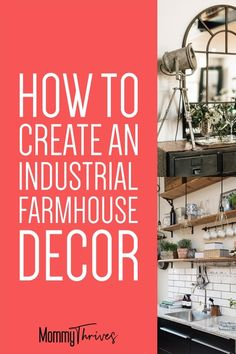 Industrial Decor for Living Room, Kitchen, Bathroom, and Bedroom - How To Rock Farmhouse Industrial Decor - Farmhouse Industrial Decor With A Vintage Cozy Feel #industrialdecor #industrial #farmhouse #industrialfarmhouse #decor #homedecor Industrial Farmhouse Decor, Industrial Interior Design, Vintage Industrial Decor, Industrial Living, Industrial Interiors, Farmhouse Furniture, Vintage Farmhouse, Farmhouse Design, Modern Industrial
