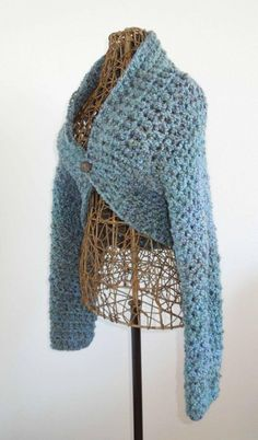 Free Crochet No Seam Shrug Pattern - Crochet Shrug Patterns - 20 Free Unique Designs - DIY & Crafts