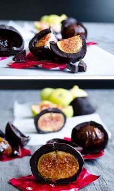 Chocolate Covered Fresh Figs   #chocolate #fig #dessert #summer   giverecipe.com @zerringunaydin