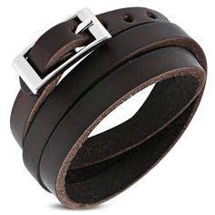 Homme Ceinture Noire Split Bracelet en Cuir Design Italien Décontracté Boucle compose à la taille