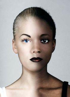 Ying & Yang Makeup in black and white Makeup/Model: Linda Hallberg Website: www.lindahallberg.com Instagram: @lindahallbergs Photographer/Models: Unknown #MUAM #Makeup #MakeupArtist #MUA #Beauty #Beautiful #MakeupLover