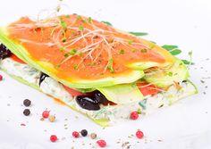 lasagna raw-vegana Raw Vegan Recipes, Tuna, Lasagna, Fish, Meat, Zucchini, Lasagne, Beef, Summer Squash