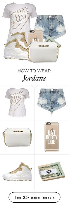 """Work Work Work"" by iiammiakay on Polyvore featuring One Teaspoon, NIKE, Retrò, Casetify and MICHAEL Michael Kors"