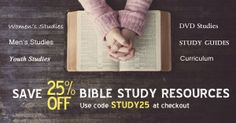 Looking for a new Bible study for yourself or your small group? Use coupon code STUDY25 and you can save 25% Off our best Bible studies and study resources from some of the greatest authors, pastors and Bible teachers in the country!