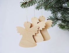 Christmas Angel Decoration Wooden Angel decor by WoodenTextures