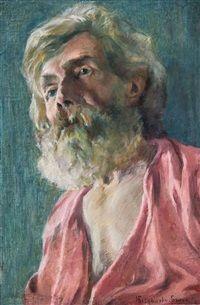 Porträt eines alten Mannes by Nikolai Petrovich Bogdanov-Belsky