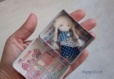 Little Girl and her Tiny House, Art Doll Brooch, gift for her by miopupazzo on Etsy https://www.etsy.com/listing/219388351/little-girl-and-her-tiny-house-art-doll