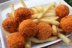 Spicy Chicken and Cheddar Poppers at Refreshment Port in Epcot! YUM!