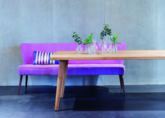 #kontrast #furniture #dining #modern #country #wood #solid #solidwood #table #oak #bench #pink #designersguild #cushion