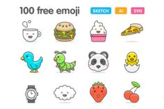 Get these fun and cute emoji icons, perfect for a wide range of projects! These free, well-crafted and adorable illustrations come from Vincent Le Moign of WebAlys.