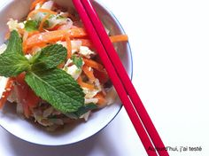 Asian-Style Chicken Carrot & Cabbage Salad on Aujourd'hui, j'ai testé