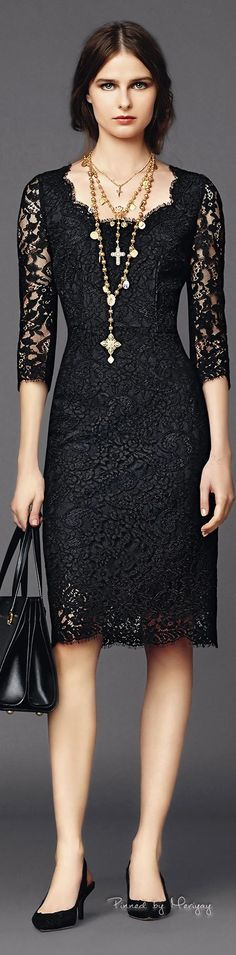 VOGUE FASHION WORLD. NEWS&TRENDS. CELEBRATE&PARTY STYLE. FALL -15….AFTER SUMMER WORLD FASHION. ♔Dolce & Gabbana.2015♔ loving sheer black (and lace always) for evening this spring  INFO MySTYLE...Watch&FOLLOW MyBLOGG.